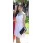 A-line printesa v-gât scurt / mini sifon rochie homecoming cu draping de ts couture®