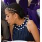 Linia -A Prințesă Bijuterie Lungime Genunchi Șifon Rochie Domnișoară Onoare cu Mărgele Drapat Ruching Pliuri de LAN TING BRIDE®