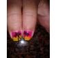 Brosses 3PCS art d'ongle avec Multi-couleur poignée