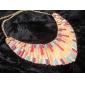 în formă de evantai colier femei din aliaj de colorat