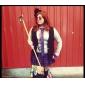 Femme Perruque Synthétique Mi Longue vin foncé Partie latérale Avec Frange Perruque Halloween Perruque de carnaval Perruque Déguisement