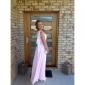 Coloană / Teacă Pe Umăr Lungime Podea Șifon Bal Seară Formală Rochie cu Mărgele Drapat Părți de TS Couture®
