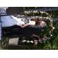 Trompetă / Sirenă Fără Bretele Trenă Capelă Tafta Rochie de mireasă cu Mărgele Aplică Ridicat de LAN TING BRIDE®