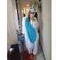 Pijama Kigurumi Unicorn Pijama Întreagă Costume Coral Fleece Albastru Cosplay Pentru Adulți Sleepwear Pentru Animale Desen animat