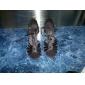 Chaussures de danse(Noir) -Non Personnalisables-Talon Bobine-Satin-Latine Salon