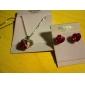 aliaj superb cu bijuterii de cristal / stras femei set, inclusiv colier, cercei (mai multe culori)