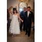 Linia -A Prințesă In Formă de Inimă Lungime Gleznă Organza Rochie de mireasă cu Mărgele Aplică Cruce de LAN TING BRIDE®