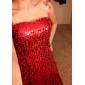 Coloană / Teacă Fără Bretele Lungime Podea Paiete Seară Formală Bal Militar Rochie cu Drapat Paiete de TS Couture®