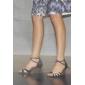 Pantofi Damă Din Satin Cu Barete Cu Cristale De Dans Latin De Societate