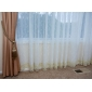 Două Panouri Tratamentul fereastră Neoclasic , Solid Poliester Material Sheer Perdele Shades Pagina de decorare For Fereastră