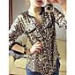 Femei Casual șifon Bluza Leopard