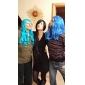 Peruci de Cosplay Final Fantasy Lulu Anime/ Jocuri Video Peruci de Cosplay 100 CM Fibră Rezistentă la Căldură Feminin