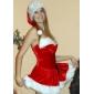 fierbinte drăguț roșu blana rochie de Crăciun costum (2 bucati)