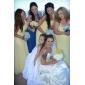 Coloană / Teacă Halter Lungime Podea Șifon Rochie Domnișoară Onoare cu Drapat Volane Pliuri Ruching de LAN TING BRIDE®