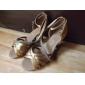 Satin Classic Five Stripe Cross Dance Shoes Woman personalizate pentru sandale latină / Ballroom