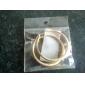 KU NIU femei aur placare Diametru 50mm Cercel Er0317