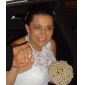 Trompetă / Sirenă Halter Mătura / Trenă Dantelă Rochie de mireasă cu Mărgele Nasture Flori de LAN TING BRIDE®