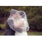 Voal de Nuntă Un nivel Voaluri Lungi Până la Cot Margine panglică 31.5 in (80cm) Tul Alb IvoriuA-line, Rochie de Bal, Prințesă, Foaie/