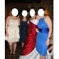 Teacă / coloană jewel gât halter genunchi lungime sifon rochie de vacanță cu draping de ts couture®
