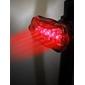 Xingcheng 5-LED 6-lägen Cykel Bakljus med Super Klarröd LED XC-905T