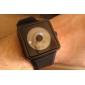 moda unisex silicon încheietura ceas - negru