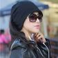 funtional ocazional pălărie de culoare solida femei& eșarfă