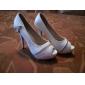 Pantofi De Seară/Petrecere Stiletto Peep Toe Cu Aplicații De Fermoar