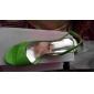 din piele de brevet transparent mici sandale cu toc pantofi de partid / seara (mai multe culori)