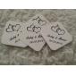 Tag-uri favorizează personalizate - inima dublu (set de 36)