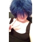 Peruci de Cosplay Vocaloid Kaito Albastru Short Anime/ Jocuri Video Peruci de Cosplay 32 CM Fibră Rezistentă la Căldură Bărbătesc