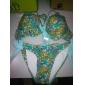 Paisley set femeilor bikini floare de imprimare (cu arc albastru deschis&legături)