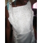 A-line printesa matura / perie tren curte de tren floare fată rochie - satin fără buzunar bijuterii gât de lan ting bride
