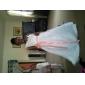 A-line printesa podea lungime floare fata rochie - organza mâneci fără curea cu panglica de lan ting bride®