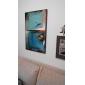 Pictat manual Abstract Vertical,Clasic Modern Un Panou Hang-pictate pictură în ulei For Pagina de decorare