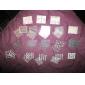 50pcs 3d design nagel art klistermärken tips