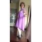 Coloană / Teacă Gât Înalt Asimetric Șifon Rochie Domnișoară Onoare cu Dantelă de LAN TING BRIDE®