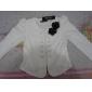 Femei de moda OL Lady Blazer dublă Breasted Puff Sleeve Jacket Bow Tie Back Coat