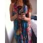 ștreang / v-gât sifon rochie maxi