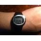 Bărbați Ceas de Mână Piloane de Menținut Carnea Alarmă Calendar Cronograf Monitor Ritm Cardiac LCD Cauciuc Bandă Negru