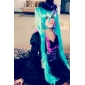 Inspirat de Vocaloid Hatsune Miku Video Joc Costume Cosplay Rochii Pălărie/Șapcă 纯色 Manșon Lung Rochie Pălărie