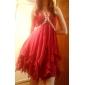 A-line halter scurt / mini chiffon rochie de bal cu cristal de ts couture®