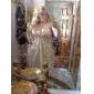 Coloană / Teacă Gât V Lungime Podea Șifon Seară Formală Bal Militar Rochie cu Mărgele Drapat Părți Ruching de TS Couture®