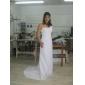 Teacă / coloană un umăr matur / perie tren șifon rochie de mireasă cu aplicații de tundere de lan ting bride®