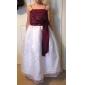 A-linie printesa podea lungime floare fată rochie - organza satin fără mâneci spaghete curele cu beading de lan ting bride®