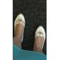 Dame - Pantofi de nunta - Confortabili / Balerină - Pantofi Fără Toc - Nuntă - Negru / Albastru / Roz / Roșu / Fildeș / Alb / Argintiu