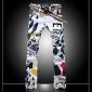 Bărbați Fashion Color desen floare Print Denim Jeans