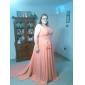 O prințesă a-linie o treaptă de tren de umăr Watteau tren chiffon rochie de bal cu tundere de ts couture®