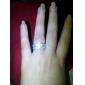 Minunat alamă argint placat cu Cubic Zirconia femei Ring (Mai multe culori)