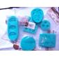 Cute Bow 3D silicon mucegai tort de decorare coacere Tool