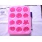 silicon cupcake bomboane de ciocolată mucegai 12 flori (culoare aleatorii)